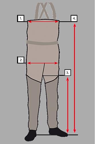 Размерная таблица для вэйдерсов Vision