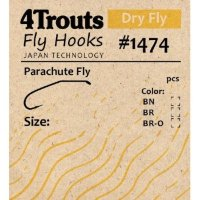 Крючок #1474 Parachute Fly (4trouts)