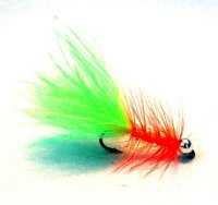 Woolly Bugger - Chartreuse-orange TPS