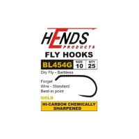 Крючки BL-454 GOLD Dry Fly (Hends products) безбородый